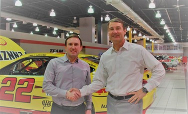 Rich Garrity, President of Americas, Stratasys and Team Penske President TIm Cindric